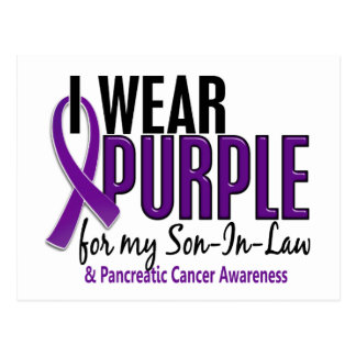 I Wear Purple For Son-In-Law 10 Pancreatic Cancer Postcard