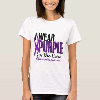 I Wear Purple For The Cure 10 Fibromyalgia T-Shirt
