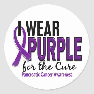 I Wear Purple For The Cure 10 Pancreatic Cancer Classic Round Sticker