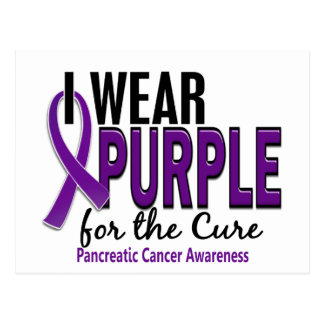 I Wear Purple For The Cure 10 Pancreatic Cancer Postcard