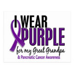 I Wear Purple Great Grandpa 10 Pancreatic Cancer Postcards