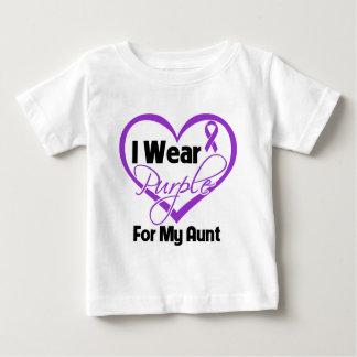 I Wear Purple Heart Ribbon - Aunt Baby T-Shirt