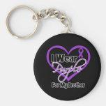 I Wear Purple Heart Ribbon - Brother Key Chain