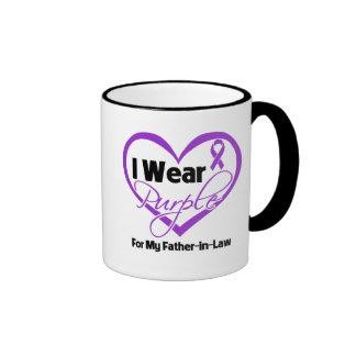 I Wear Purple Heart Ribbon - Father-in-Law Coffee Mug