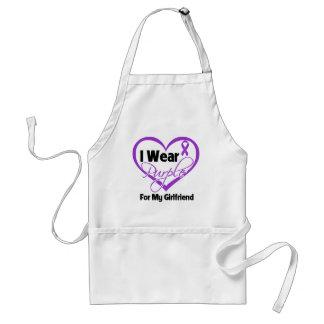 I Wear Purple Heart Ribbon - Girlfriend Adult Apron