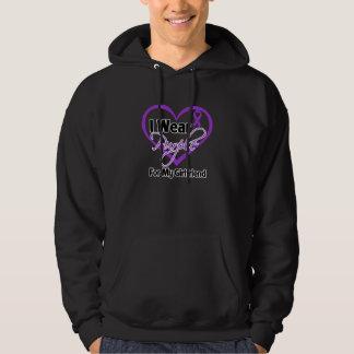 I Wear Purple Heart Ribbon - Girlfriend Hoodies