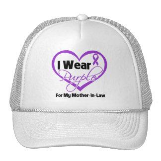 I Wear Purple Heart Ribbon - Mother-in-Law Hat