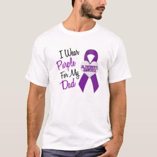 I Wear Purple Ribbon Alzheimer's Disease T-Shirt