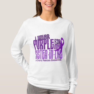 I Wear Purple Sister-In-Law 6.4 Cystic Fibrosis T-Shirt
