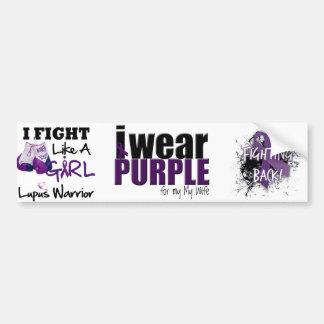 I Wear Purple to Support my Wife Car Bumper Sticker