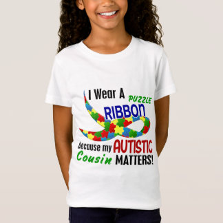 I Wear Puzzle Ribbon For My Cousin 33 AUTISM T-Shirt