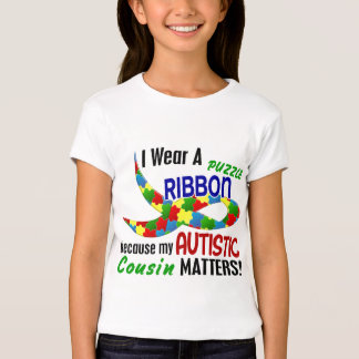 I Wear Puzzle Ribbon For My Cousin 33 AUTISM T Shirts