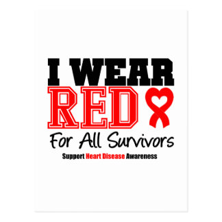 I Wear Red For All Survivors Post Cards