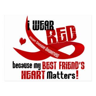 I Wear Red For My Best Friend's Heart 33 Postcard