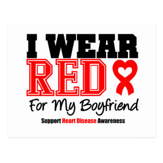 I Wear Red For My Boyfriend Postcard