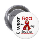 I Wear Red For My Brother 43 Heart Disease Pinback Buttons