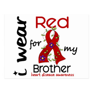 I Wear Red For My Brother 43 Heart Disease Post Card