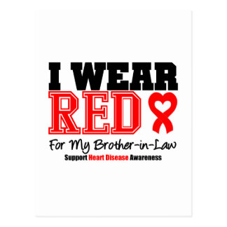 I Wear Red For My Brother-in-Law Postcard