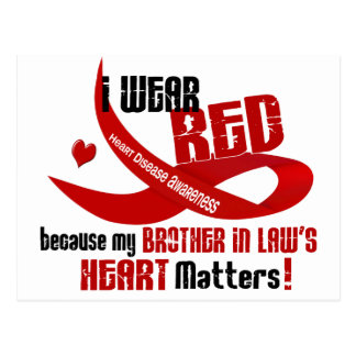 I Wear Red For My Brother-In-Law's Heart 33 Postcard