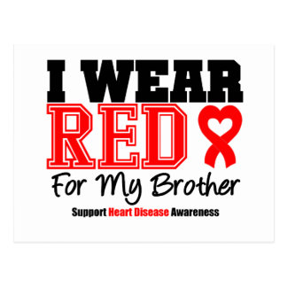 I Wear Red For My Brother Postcards