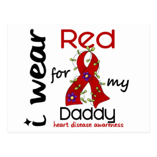 I Wear Red For My Daddy 43 Heart Disease Postcard