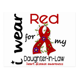 I Wear Red For My Daughter-In-Law 43 Heart Disease Postcard