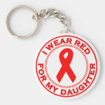 I Wear Red For My Daughter Keychains