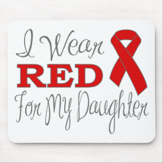 I Wear Red For My Daughter (Red Ribbon) Mousepad