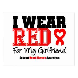 I Wear Red For My Girlfriend Postcard