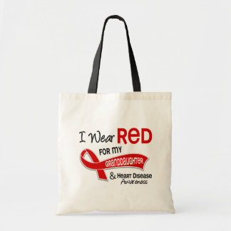 I Wear Red For My Granddaughter Heart Disease Tote Bag