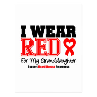 I Wear Red For My Granddaughter Post Card