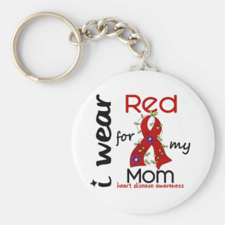 I Wear Red For My Mom 43 Heart Disease Key Ring