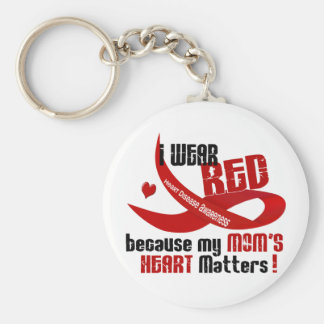 I Wear Red For My Mom 's Heart 33 Key Ring
