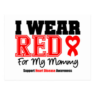 I Wear Red For My Mommy Postcards