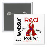 I Wear Red For My Mother 43 Heart Disease Buttons