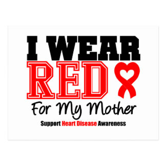 I Wear Red For My Mother Post Card