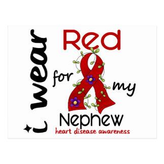 I Wear Red For My Nephew 43 Heart Disease Postcard