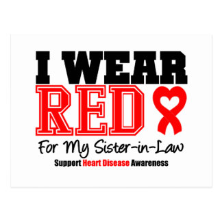I Wear Red For My Sister-in-Law Postcard