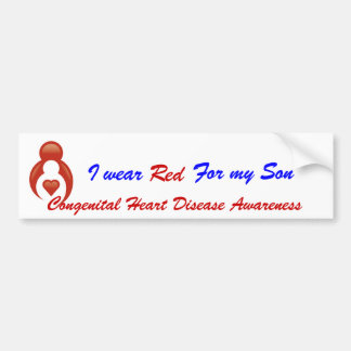 I Wear Red For My Son Bumper Sticker