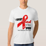 I Wear Red For Someone Special Heart Disease Tees
