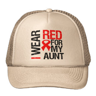 I Wear Red Ribbon For My Aunt Cap