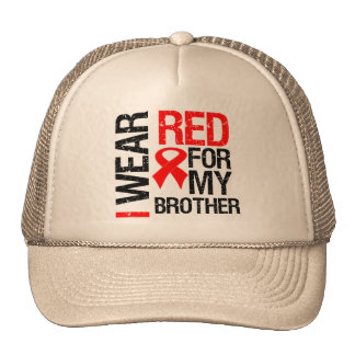 I Wear Red Ribbon For My Brother Cap