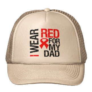 I Wear Red Ribbon For My Dad Trucker Hats