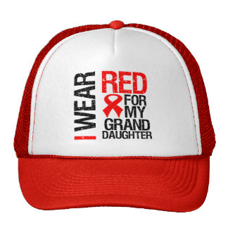 I Wear Red Ribbon For My Granddaughter Cap