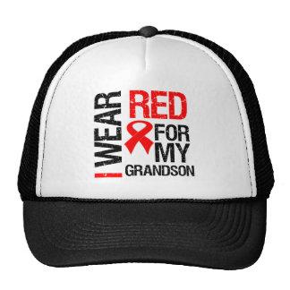 I Wear Red Ribbon For My Grandson Trucker Hats