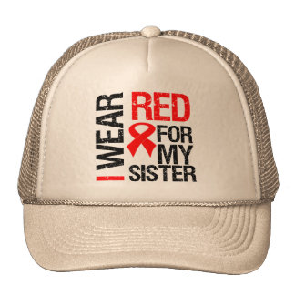 I Wear Red Ribbon For My Sister Cap