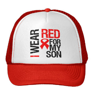 I Wear Red Ribbon For My Son Cap