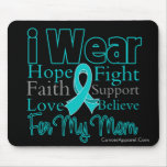 I Wear Ribbon Collage Mum - Ovarian Cancer Mouse Mats