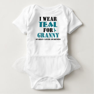 I Wear Teal For (Add your own name or title) Baby Bodysuit