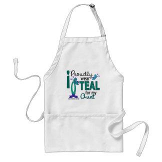 I Wear Teal For My Aunt 27 Ovarian Cancer Standard Apron